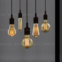 Edison incandescent European retro light bulbs Antique retro nostalgia Living room lights Bedroom lights Restaurant chandeliers