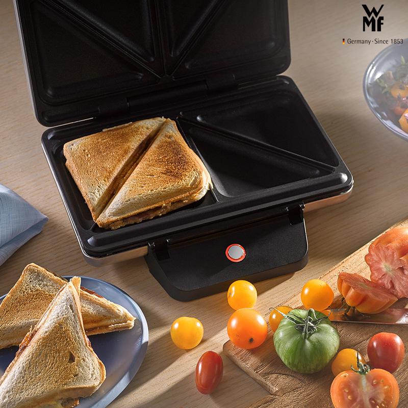 德国WMF福腾宝不锈钢双面家用加热吐司三明治机早餐机小型面包机