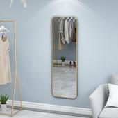 饰镜梳妆台镜浴室壁挂镜穿衣镜可 北欧铁艺金色方形试衣镜子客厅装