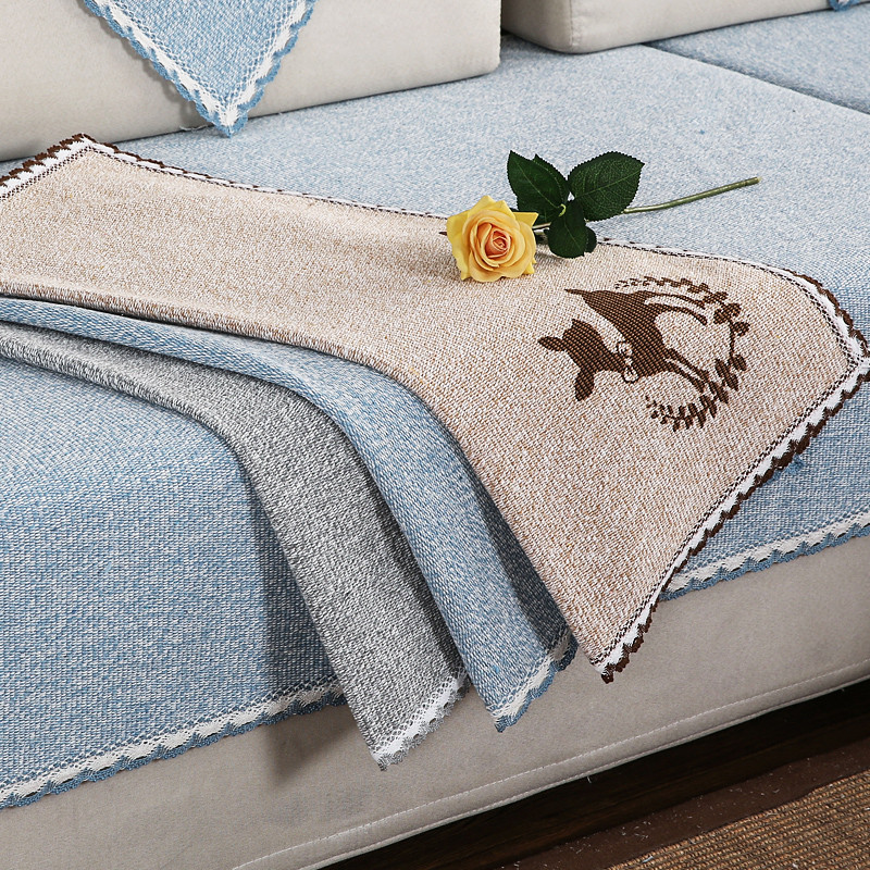 沙发巾简约现代四季亚麻