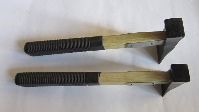 上新加固木柄胶把刨锛刨斧锤子烤兰包铁皮锻打多用泥瓦工具锄镐锄