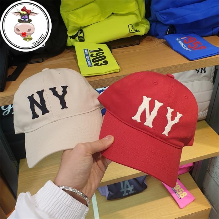 【大牛韩代】韩国正品MLB新款洋基队棒球帽软顶帽NY大标鸭舌帽潮