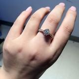 女王密令带红宝钻戒 18K玫瑰金钻戒 豪华戒指 18K镶莫桑宝石戒指