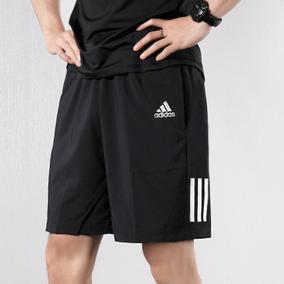 阿迪达斯短裤男裤夏季跑步训练健身中裤 梭织透气宽松休闲五分裤