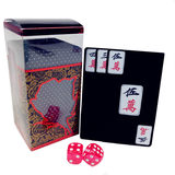 Waterdigte en speelbare PVC Mahjong Solitaire Scrub Plastic Card Mahjong Card Solitaire Poker Mini Party Game