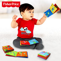 Fisher can not tear bad stereo bite tail cloth book 0-3 years old child baby baby early education educational toys 6 months