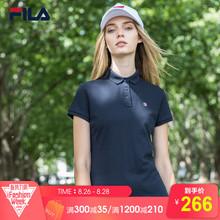 FILA斐乐女夏季新款透气短袖POLO衫T恤 F11W821104F