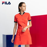 FILA Fila Women's Dress Autumn New Sports Short Sleeve Dress F11W836308F