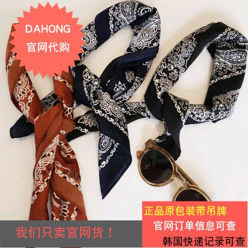 韩国代购时尚起义2018新款5色独特花纹丝质领巾/694031