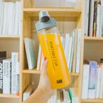 韩版大容量运动水壶带盖情侣便携塑料杯健身水瓶男女学生简约水杯