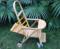 万向轮竹推车婴儿车宝宝手推车儿童推车童椅可折叠可躺儿童竹椅子