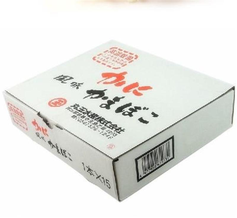 日本进口零食 丸玉水产北海道即食长脚蟹肉棒蟹柳休闲零食15条/盒