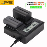 Ruibo Sony NP-F970 dual charger NP-F770 F750 F550 F960 battery dual charger