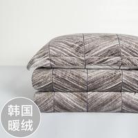 慢漫韩国进口暖绒四件套 秋冬保暖裸睡 天鹅绒珊瑚绒法兰绒磨毛