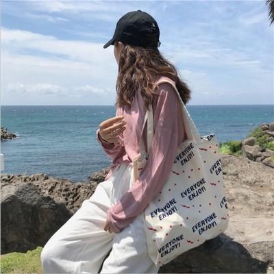 新款休闲时尚气质女神韩国帆布包女简约大容量百搭单肩女包大包包