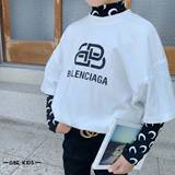 Korean borabora children's wear 2019 autumn new casual moon fake two long-sleeved T-shirt son-in-child