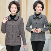 单件中老年女装 中年秋冬季妈妈秋装 女士聚酯外套 夹克大码图片