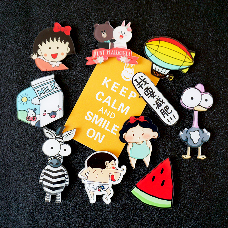 萌小依 冰箱贴磁贴创意 日本卡通可爱萌物装饰挂件磁性磁力贴一套