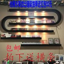 墙上挂壁美甲店货架展示架指甲油胶架子置物架化妆品美甲壁挂创意