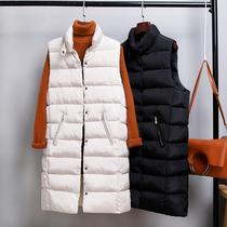 秋冬新款大码女装中长款棉马甲韩版立领加厚羽绒棉女修身外套坎肩