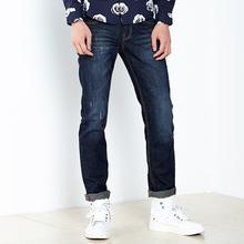 gxg.jeans男装冬时尚修身直筒漆点休闲牛仔裤潮54805004
