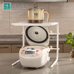 日本LEC厨房置物架分层微波炉电饭煲收纳架整理角架烤箱储物架子