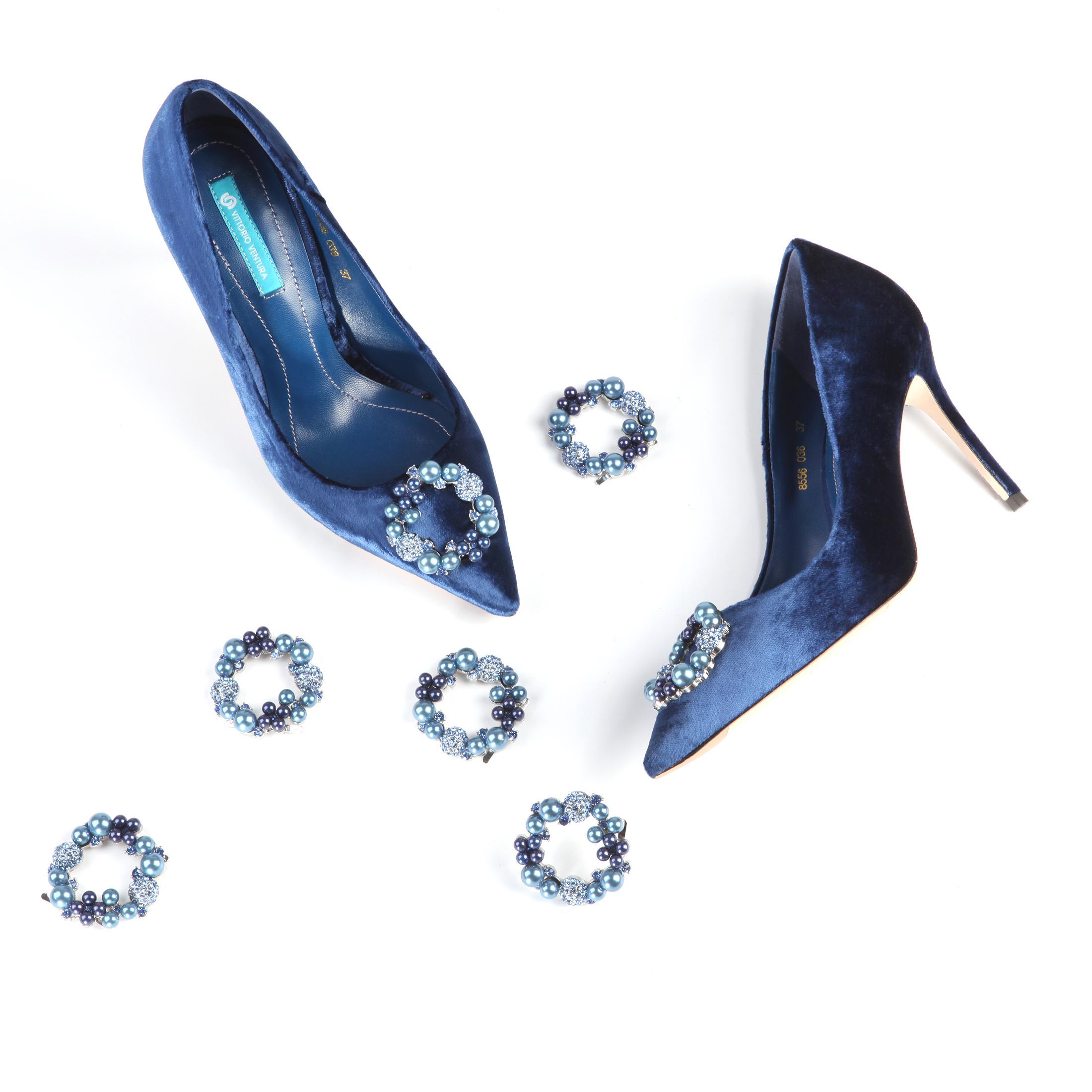 系列蓝色女鞋