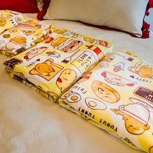 可爱卡通懒蛋蛋日本蛋黄哥法兰绒毯子床单空调毛毯儿童盖毯冬新品