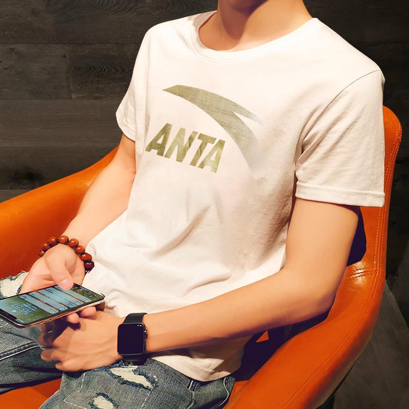 安踏短袖T恤男2019夏季新款男士上衣官网正品半袖体恤运动服男装