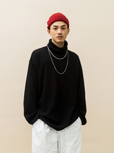 G OPICLOTH(OPIC)18AW TURTLENECK LS T-SHIRT华夫格高领落肩长袖