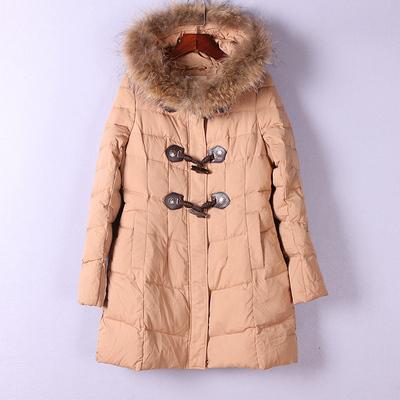 拉系列 秋冬新品女装剪标折扣库存连帽可爱可卸毛领厚实 羽绒服