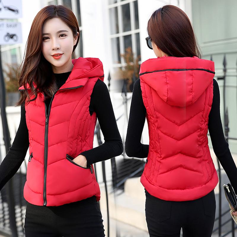 2018 new down cotton vest women's autumn and winter short vest thickening warm jacket