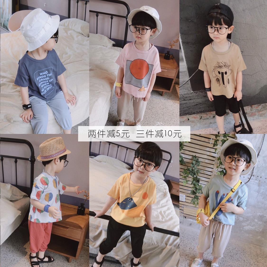 中童卡通t恤衫