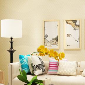 现代简约纯色素色墙纸 中式复古小方格满铺客厅卧室工程宾馆壁纸