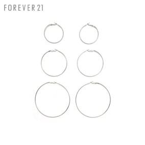 圈圈耳圈耳环三对组女 Forever21