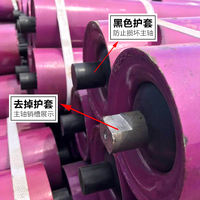 Thicken mine conveyor roller roller no power roller 31 one-in-one roller rubber buffer roller direct