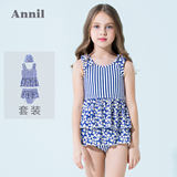 Annai Children's and Girls'Split Swimming Suit New Summer Suit of 2019