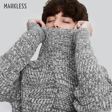 Markless冬季羊毛衫男高领毛衣青年加厚修身休闲羊毛针织衫韩版
