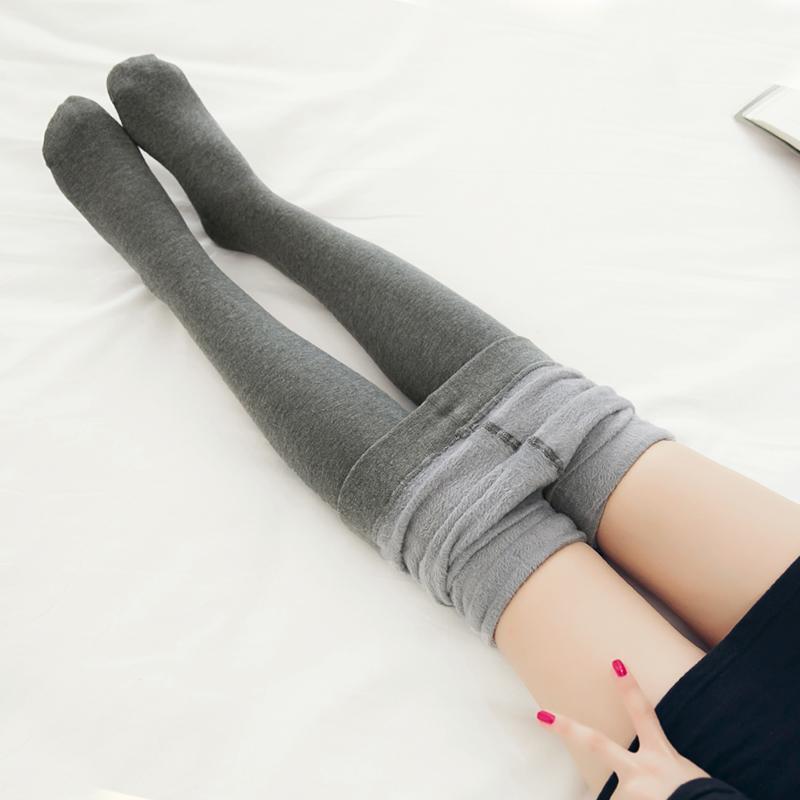 加绒裤袜秋冬灰色