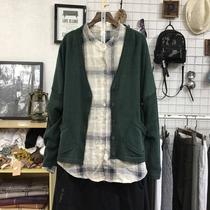 2018秋季新款韩版女装宽松大码文艺纯色长袖针织开衫线衫毛衣外套