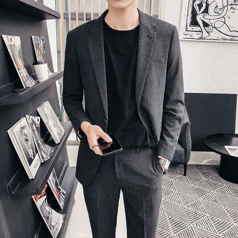 韩国修身小西服