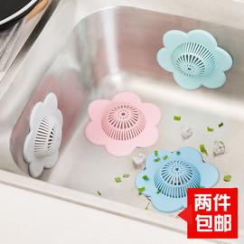 梅花型水槽滤发垫 硅胶过滤网厨房水池地漏盖子 卫生间水槽防堵塞图片