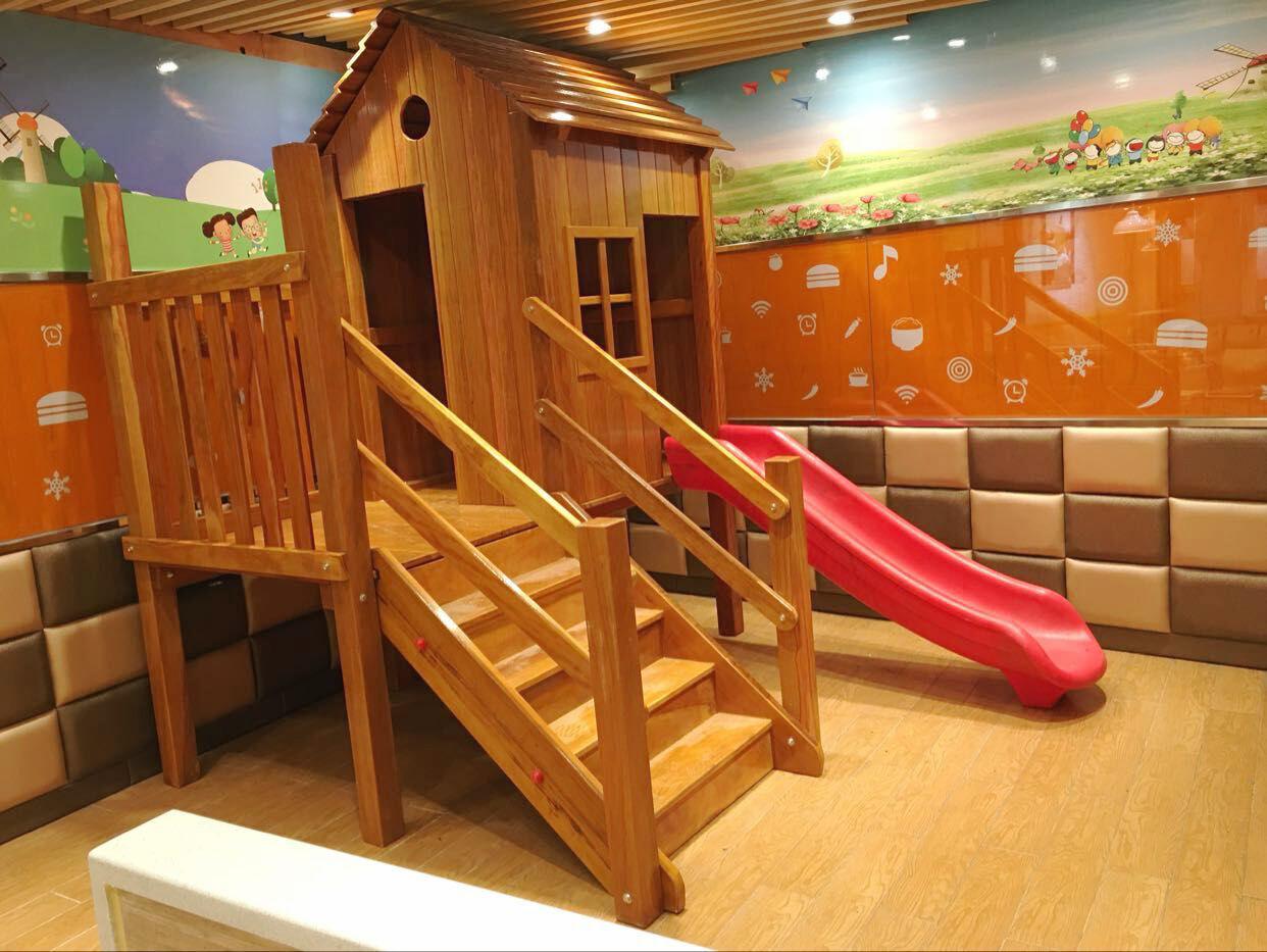 木质组合滑梯小博士