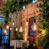 婚庆场景布置店铺橱窗挂灯清吧氛围灯户外防水庭院装饰灯钨丝灯串