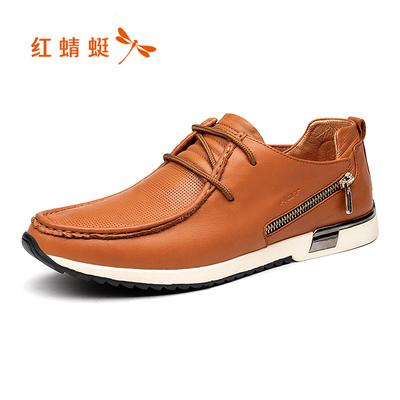 清仓 商场同款红蜻蜓官方店真皮男鞋春季正品透气软底休闲鞋皮鞋