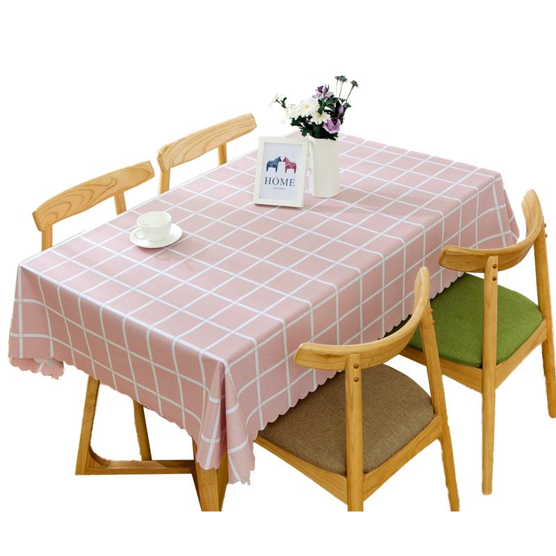 布艺桌布防水防烫防油免洗北欧茶几餐桌布书桌ins学生塑料pvc桌垫