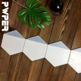 简雍北欧简约风六角砖175*200mm厨房卫生间六边形亚光全瓷墙地砖图片