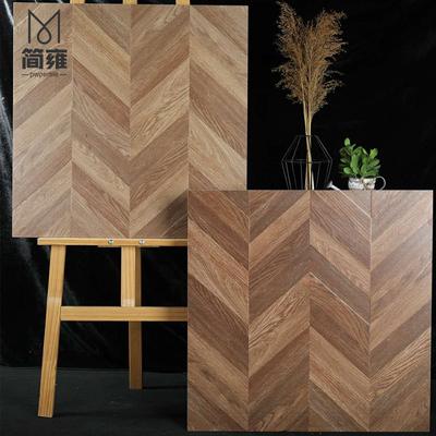 仿古木纹砖美式风60客厅卧室墙地面复古砖防滑亚光通体仿实木瓷砖