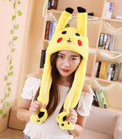 Vibrating hat ears will move the rabbit cartoon hat one to look up the ears cute funny airbag unicorn hat