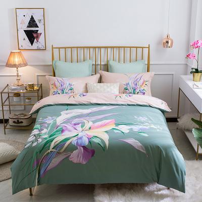 富安娜四件套全棉纯棉1.5m1.8m2.0m双人床单被套简约床上用品春夏